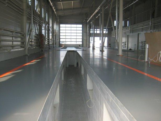 наливной пол для производстенного помещения